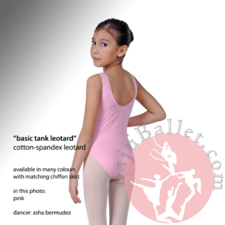 basic tank leotard pink