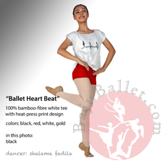 Dance Tee Ballet Heart Beat Black