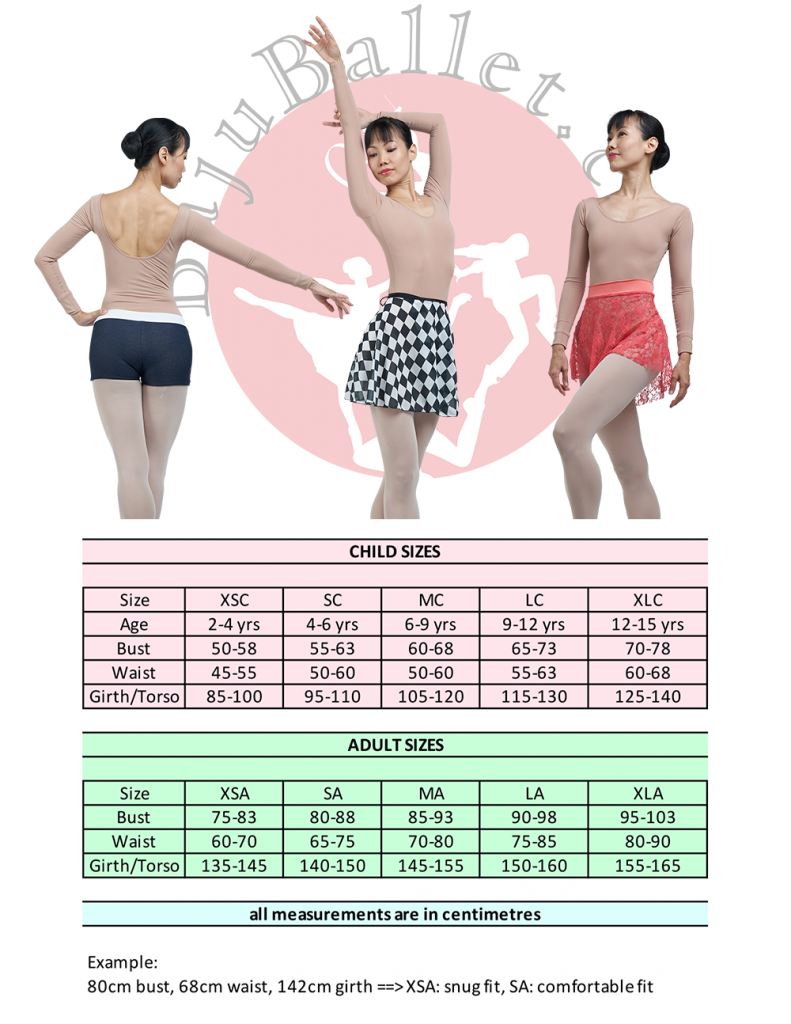 Long Sleeve Body Liner Size Chart